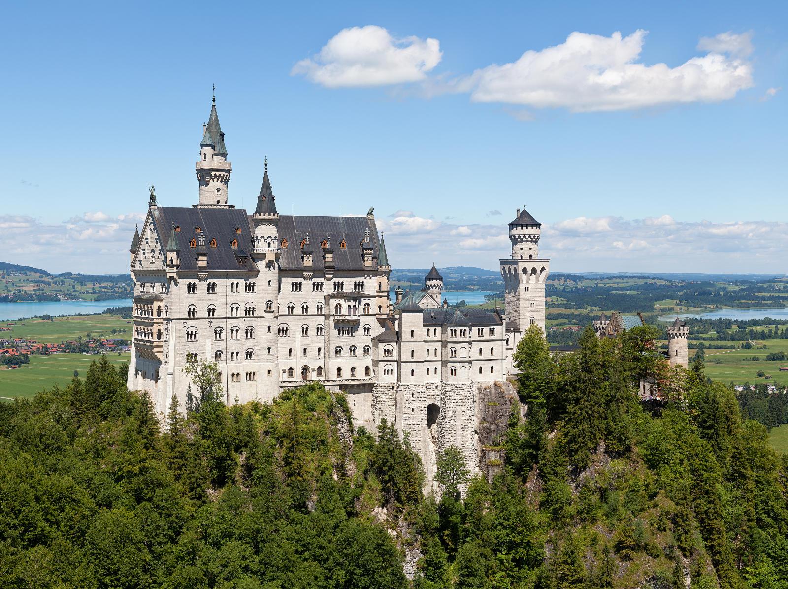 El castillo de Neuschwanstein